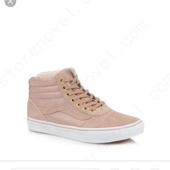 d81019215d Vans  Maddie  blush pink high top sneakers 8.5. M 5c67f8110cb5aa262b5a4d09